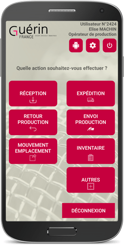 Application android Guérin gestion des stocks