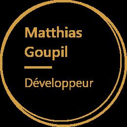 Agelios, Matthias Goupil, Développeur