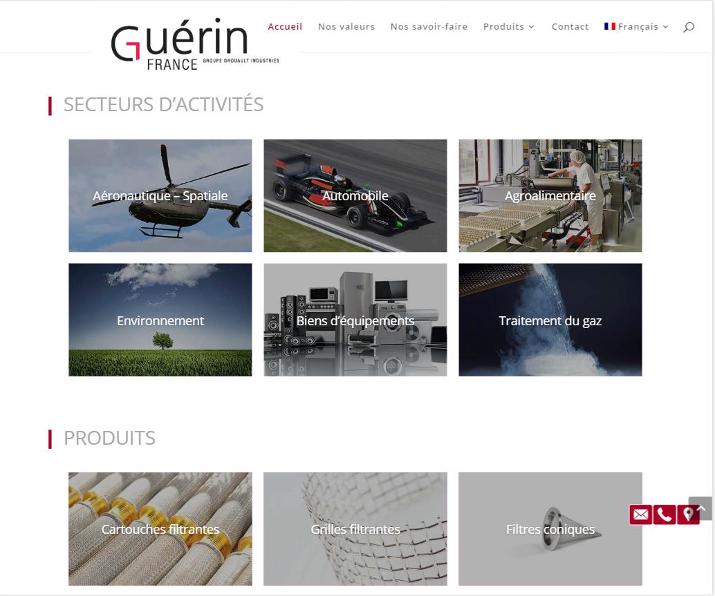 Accueil du site Filtre Guérin