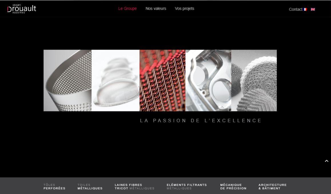 Accueil site web Groupe Drouault